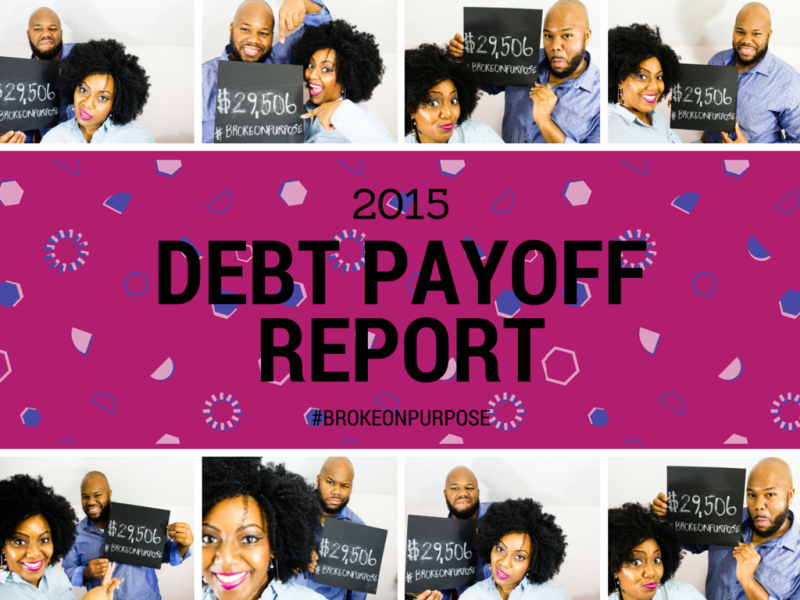 We spent 10 months living Broke on Purpose. Find out how much debt we paid off this year. www.livebrokeonpurpose.com