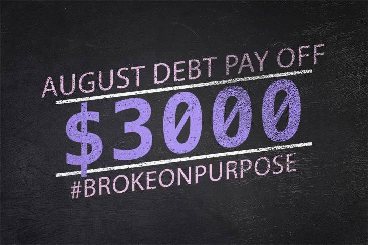 August 2015 Debt Payoff Report | Broke on Purpose| www.livingbrokeonpurpose.com |
