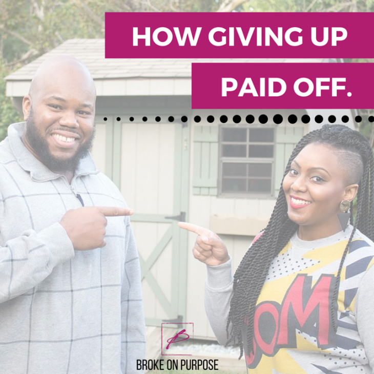 How giving up certain spending habits helped us pay off debt. |Broke on Purpose|