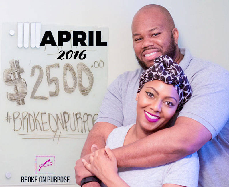 April Debt Payoff Amount 2016 Broke on Purpose www.livebrokeonpurpose