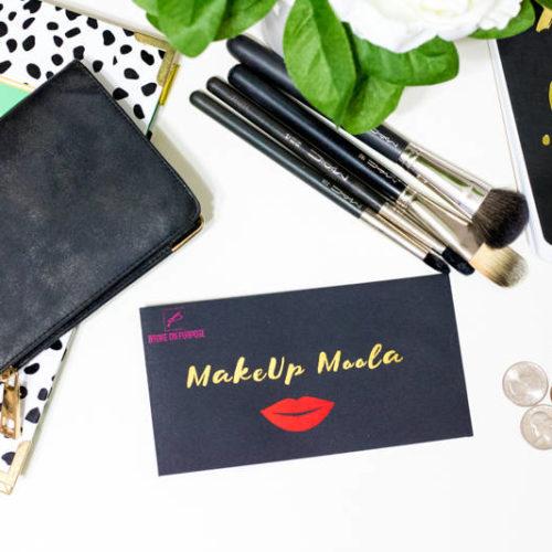 Broke on Purpose Makeup Moolah Money Envelope