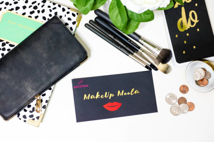 Broke on Purpose Makeup Moolah Money Envelope