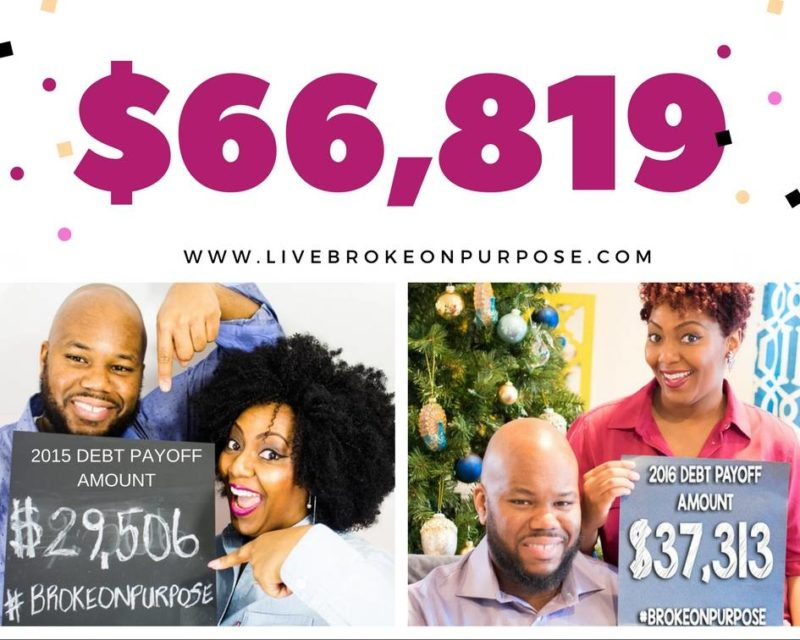 LIVE BROKE ON PURPOSE TWO YEAR DEBT PAYOFF AMOUNT