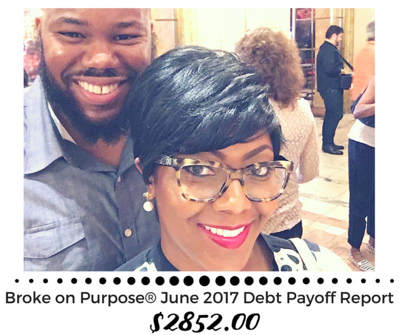 Broke on Purpose June 2017 Debt Payoff Report