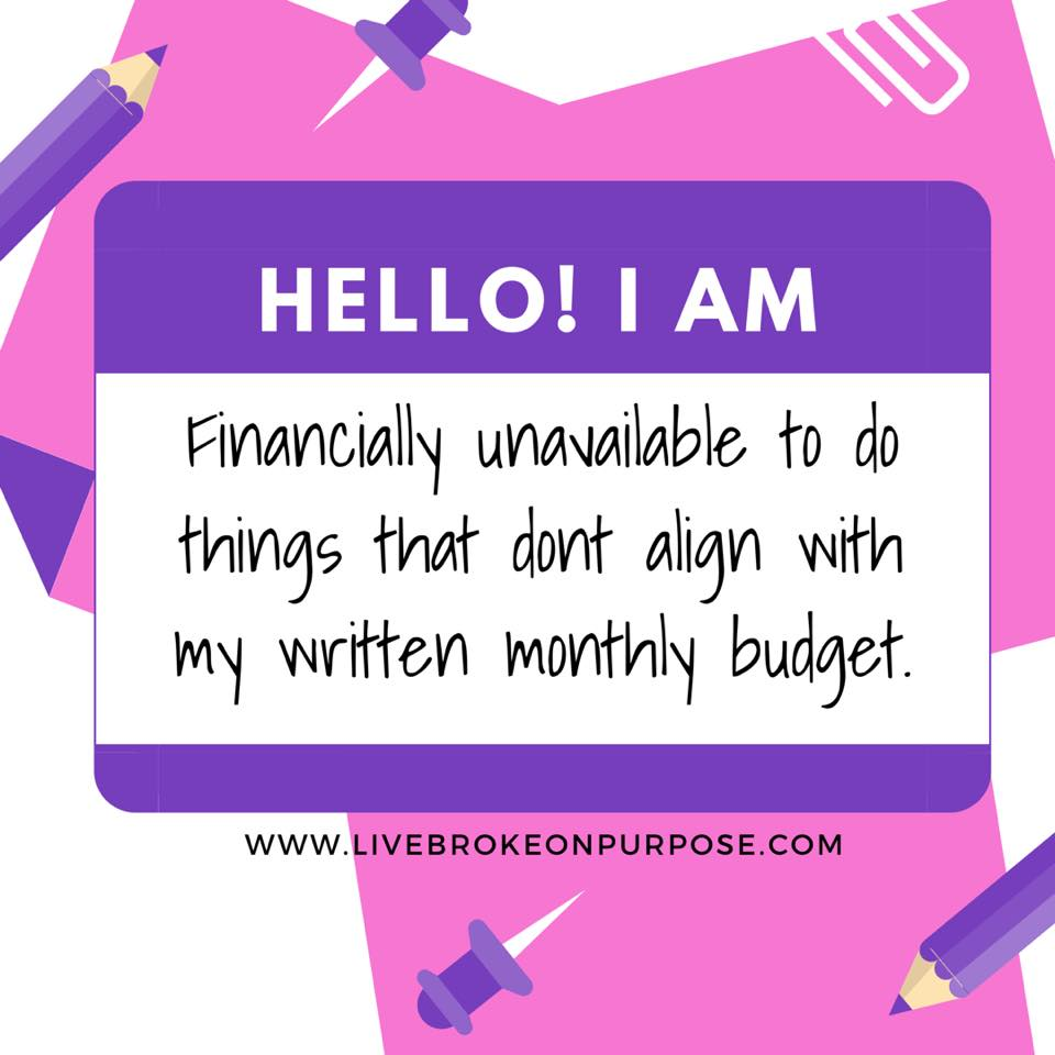 Being Financially Unavailable Broke On Purpose